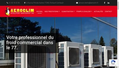Site internet de Aeroclim