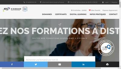 Site internet de Afci - Newsoft
