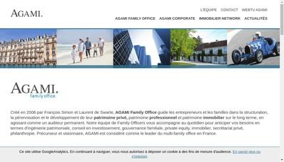 Site internet de Agami Family Office
