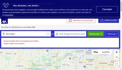 Site internet de Axa Assurances
