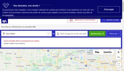 Site internet de Axa Assurance