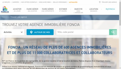 Site internet de Foncia Nantes