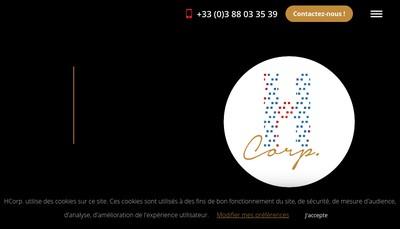 Site internet de Agence Hcorp