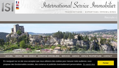 Site internet de Agence Immobiliere Isi