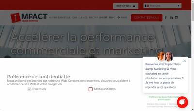 Site internet de Impact Field Marketing Group