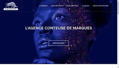 Site internet de Maverick Communication