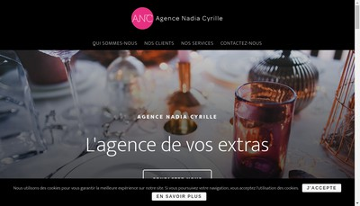 Site internet de Agence Nadia Cyrille
