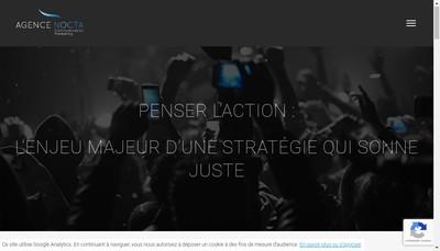 Site internet de Agence Nocta