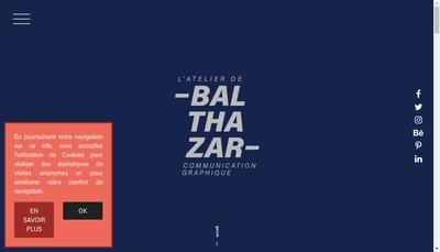 Site internet de L'Atelier de Balthazar