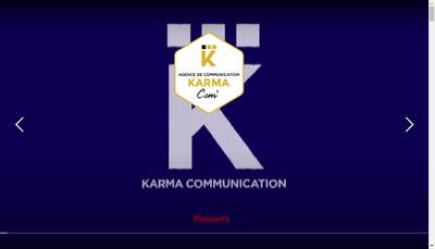 Site internet de Agce Karma - Karma Communic - Karma Com