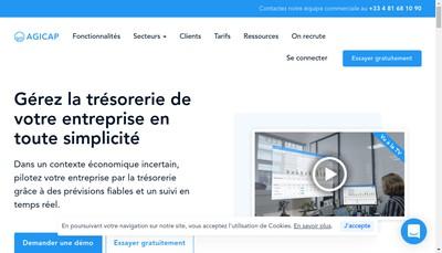 Site internet de Agicap
