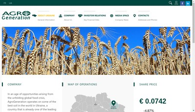 Site internet de Agrogeneration
