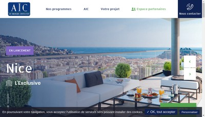 Site internet de Art Immobilier Construction