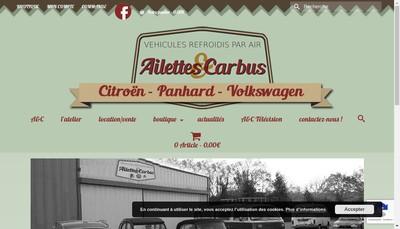 Site internet de Ailettes & Carbus