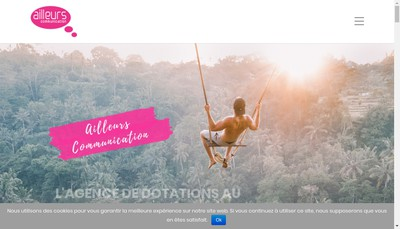 Site internet de Groupe Ailleurs Communication