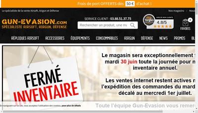 Site internet de Gun Evasion
