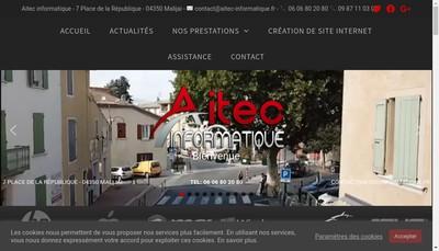 Site internet de Ailink informatique