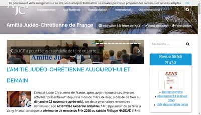 Site internet de Amitie Judeo Chretienne de France