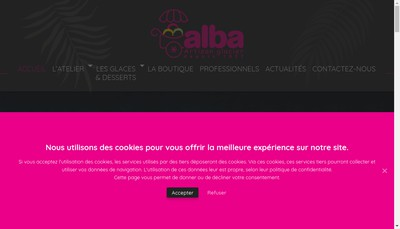 Site internet de Alba Glaces