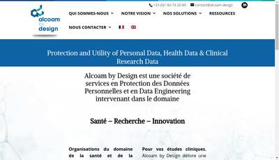 Site internet de Alcoam By Design Alcoam Bd Alcoam