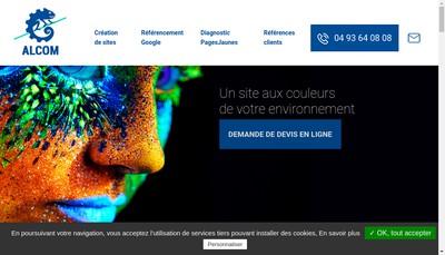 Site internet de Alcom