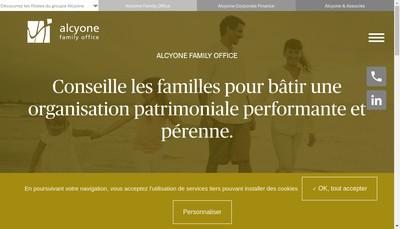 Site internet de Alcyone Family Office