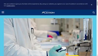 Site internet de Alexion Europe