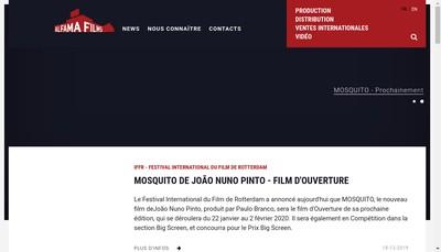 Site internet de Alfama Films Production