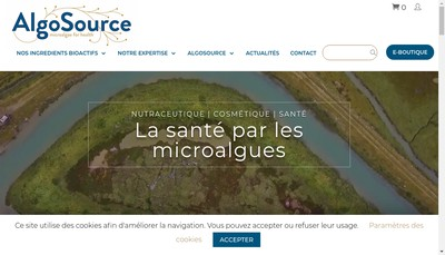 Site internet de Algosource Techologies