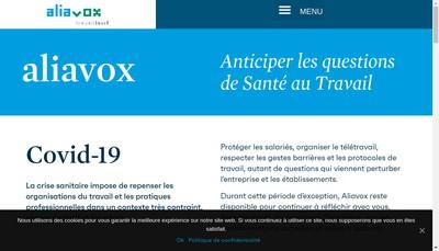 Site internet de Aliavox