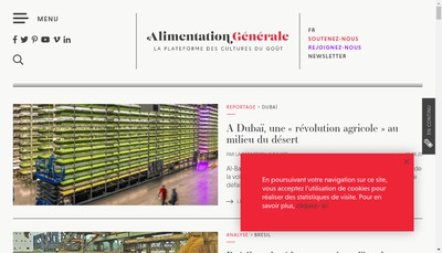 Site internet de Alimentation Generale