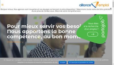 Site internet de Alliance Emploi
