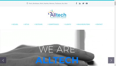 Site internet de Alltech Nouvelle Aquitaine