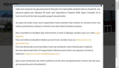 Site internet de Alpexpo