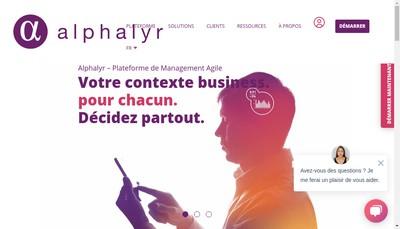 Site internet de Alphalyr
