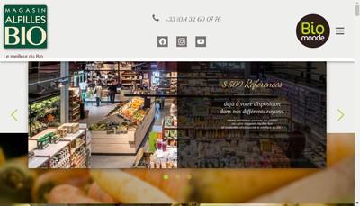 Site internet de Alpilles Bio Fruits