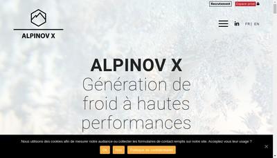 Site internet de Alpinov X
