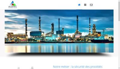 Site internet de Alsatec Environnement et Securite Industriels