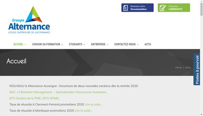 Site internet de Groupe Alternance