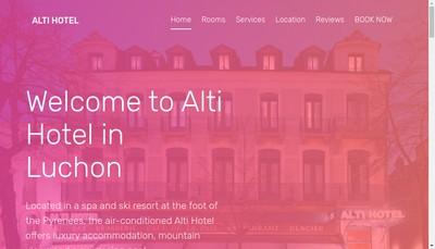 Site internet de Alti Hotel