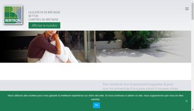 Site internet de Alu Bertron Menuiserie Fermetures