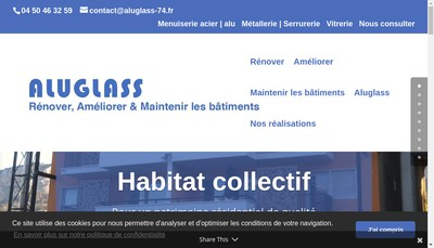 Site internet de Aluglass