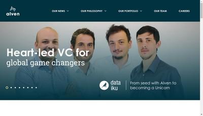 Site internet de Alven Capital Partners