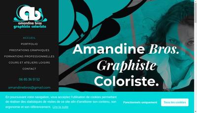 Site internet de Amandine Bros