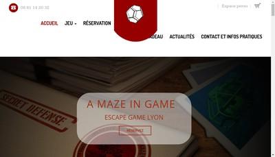 Site internet de A Maze In Game