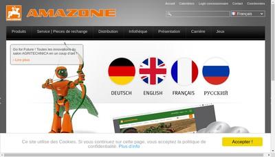 Site internet de Amazone
