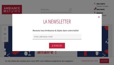 Site internet de Ambiance et Styles