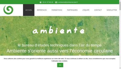Site internet de Ambiente