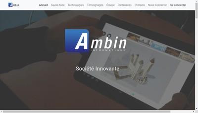 Site internet de Ambin Informatique