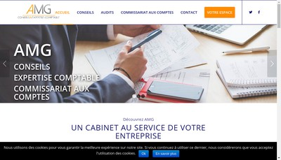 Site internet de Amg Conseils & Expertise Comptable
